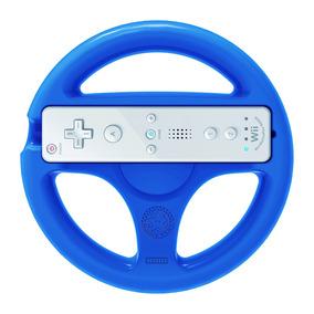 Volante Wii Wheel Mario Kart 8 Azul Hori Original