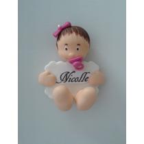 Kit 10 Lembrancinhas Maternidade Nascimento Ímã Bebê Biscuit