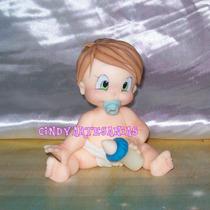 Adorno Torta Bebes Bautismo Primer Añito Nene Porcelana Fría
