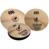 Pratos De Bateria Sabian Set B8 14 16 20 + Splash 10