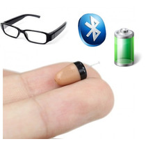 Lentes Espia Audifonos Inalambricos Micrófono Bluetooth Rec