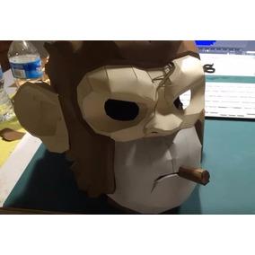 Gta V - Projeto Papercraft Mascara Space Monkey Tamanho Real