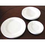 Jogo Jantar Melamina Plastico 18 Pratos Brancos