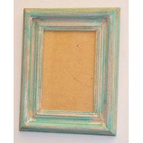 Porta Retrato 16 X24 Cm Marco Rustico Verde Gastado