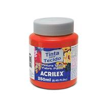 Tinta Para Tecido 250ml Acrilex - Vermelho Fogo