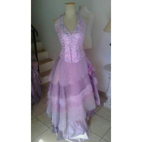 Vestido De 15 Años Largo Lila Le Tissu 0021