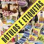 60 Rótulos, Etiquetas, Adesivos Personalizadas - 170x65mm