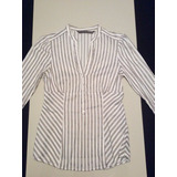 Camisa Zara Basic Collection Dama Talla S Blanca De Vestir