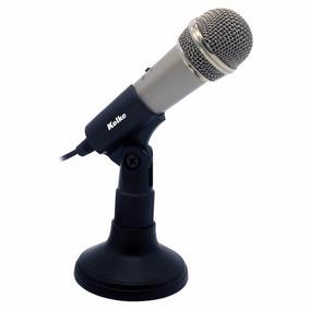 Microfono Con Pedestal Kolke Conect 3,5mm Pc Conferencias