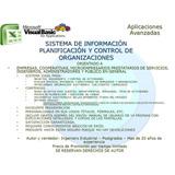 Planificación Y Control De Organizaciones Excel Visual Basic