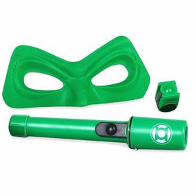 Fantasia Kit Lanterna Verde Com Máscara, Lanterna E Anel