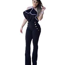 Calça Social Feminina Bengaline Cintura Alta Modeladora Nick