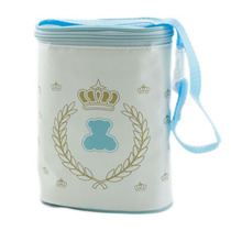 Porta Mamadeira Térmico Duplo Lipi Baby - Azul Menino