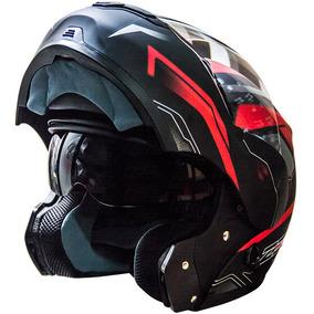 Casco Rebatible Zeus 3000 Doble Visor Gg19 Rojo En Fas Motos