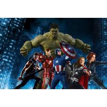 Papel De Parede Auto Adesivo Decoração Vingadores Marvel 5m2