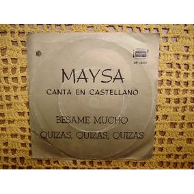 Maysa Canta En Castellano - Simple Vinilo Con Tapa Promo