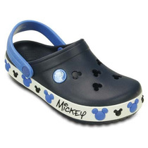 Sandália Crocs Crocband Mickey Iv Clog K - Navy -