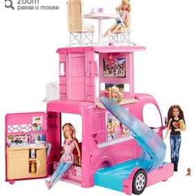 Barbie Novo Mega Trailer 3 Andares - Mattel - Original Eua