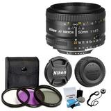 Nuevo Nikon 50mm F/1,8 D Af Nikkor Autofocus Lente + 3 Pieza