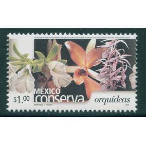 Mexico $1 Orquideas Dentado 14 S. Conserva 2005 Nueva Impeca