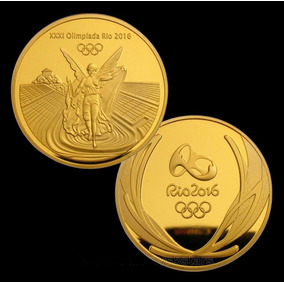Moeda Ouro Olimpiadas Rio 2016 - Medalha
