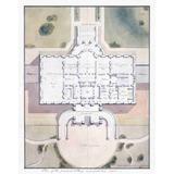 Lienzo Plano Arquitectónico La Casa Blanca 1807 64 X 50 Cm