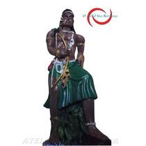 Esculturas Odé, Ogum Omulu Kit Orixas C/ 3 Imagens 30 Cm