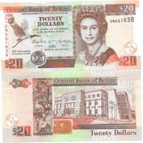 Billete Belice 20 Dolares Año 2012 Conmemorativo Banco