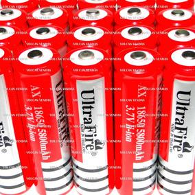 Bateria 18650 Recarregável Blindada 3.7v Lanterna Tática Led
