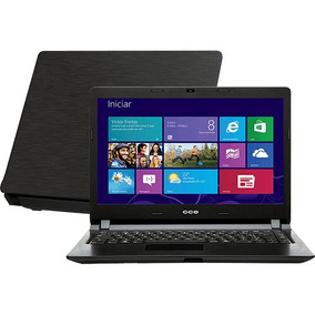 Notebook Intel I3 4gb 500gb Tela 14 Dvdrw Cam Win 8 Cce