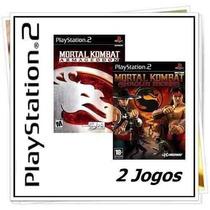 Kit 2 Games Mortal Kombat Ps2 Patch - Frete Único