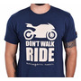Camiseta Motociclista Kallegari Dont Walk Tamanho M