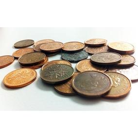 Moneda De 1 Centavo 1968, 1974, 1976, 1982, Canada