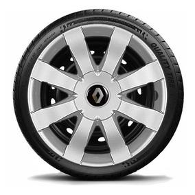 Calota Jogo Aro 15 Renault Sandero Logan 2016 2017 4pcs G875