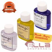 Kit Monzi 3 Frascos 35ml Limpa Joias Ouro + Limpa Folheados + Limpa Prata + 1 Flanela Para Cada Frasco