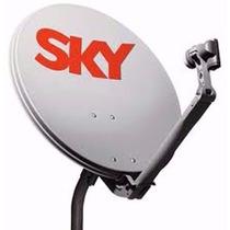 Antena Sky Ku + Cabo + Lnbf Universal + Conectores