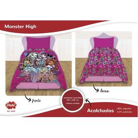 Acolchado De Monster High Doble Faz 1 ½ Plaza Disney Oficial