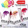 Kylie Kit Labial Liquido Mate + Delineador 29 Colores Promo