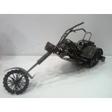 Escultura Miniatura Triciclo Trike Custom Metálico Oficina