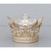 Pote Zamac Design Classico Coroa Decorativo Qualidade