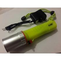 Linterna Lámpara De Buceo Recargable Potente 2200 Lúmens