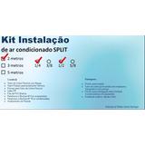 Kit Instalação Ar Condicionado Split 12.000 Btus 2 Metros