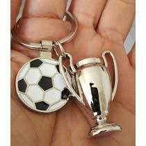 Balon De Futbol Con Copa Precioso Llavero Metalico 1388