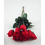 144 Rosas Vermelhas Artificiais - Botão Flores Artificial