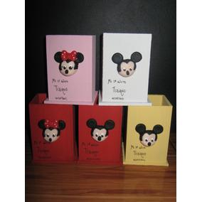 20 Souvenirs-lapiceros Minnie-mickey En Porcelana Fría!