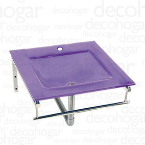 Mesada Bacha Vidrio Violeta 1 Ag Con Soporte Kln 405x405mm