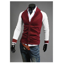 Sweater Hombre Formal Cuello En V Moda Elegante Slim Fit