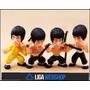 Liga- 04 Mini Bonecos Action Figures Bruce Lee - Kung - Fu