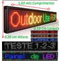Painel De Led, Luminoso, Display, Letreiro Veiculo Digitavel