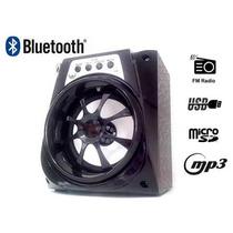 Caixa De Som Usb Fm Potente Mais Bluetooth